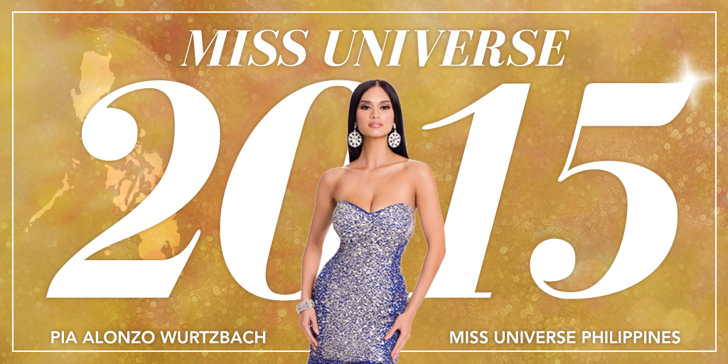 Congratulations to #MissUniverse 2015, Pia Alonzo Wurtzbach of the Philippines!