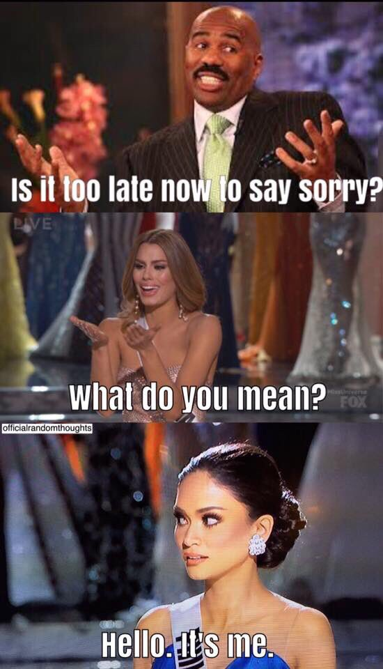 Miss Colombia's heart wasn't the only thing that broke tonight.. The internet jst barely survived. #MissUniverse2015 https://t.co/YABm6R6Uxh