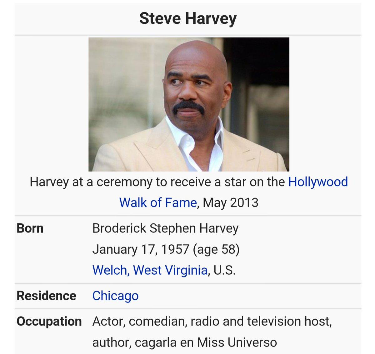 JAJAJAJAJ la ocupación de Steve Harvey. #MissUniverse2015 https://t.co/aLbDYYDtb2