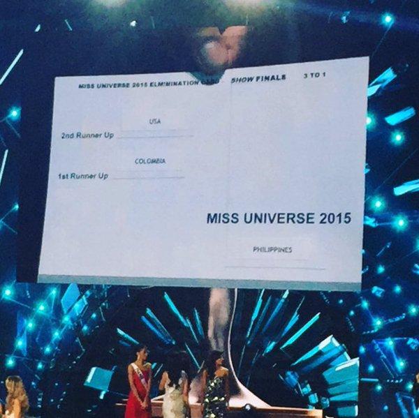 Aquí las pruebas. Lo que no entiendo es como @IAmSteveHarvey se puedo equivocar? #MissUniverso #MissUniverse2015 https://t.co/xO9ZEnLGlO