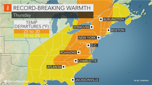 Warmest Christmas Eve on record to unfold across eastern US https://t.co/36cM9HLxam https://t.co/usk9btyKrv