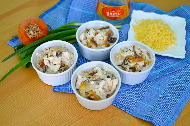 Рецепт курица грибы тыква