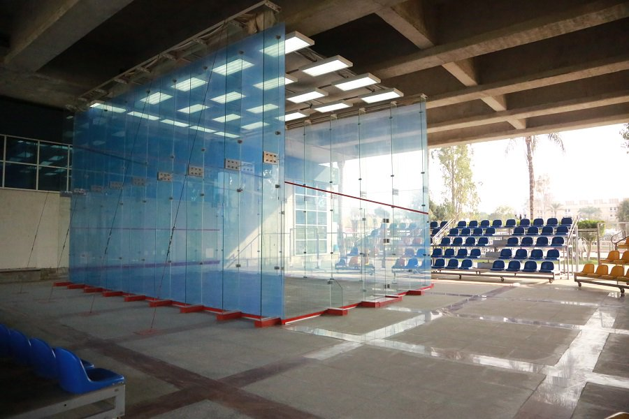 Outdoor squash court