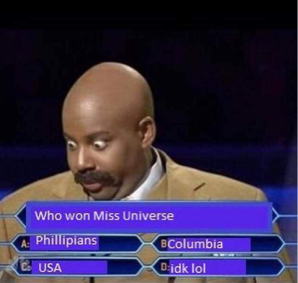 Some Of The Funniest Internet Memes Of All Time : Meme insiden salah sebut pemenang miss universe