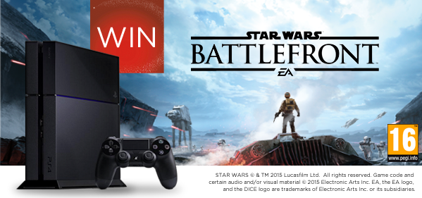 Finish the quote for a chance to #WIN a PS4 with #StarWars Battlefront. 'Let the Wookie ...' https://t.co/CMGt5r5BgT https://t.co/r76JVYkhqA