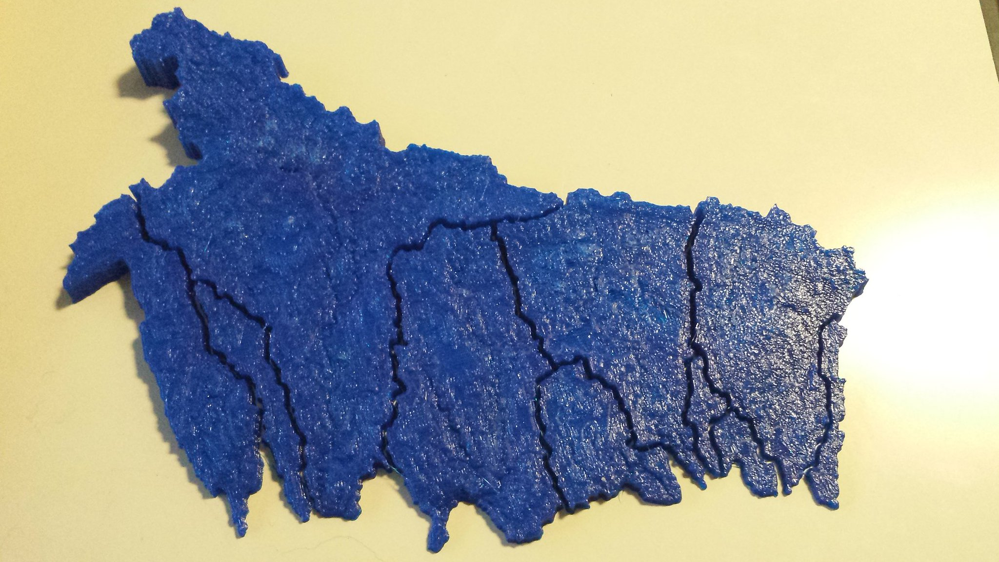 Toronto watershed puzzle. 3D printed by @ClausRinner in @RyersonGeo. @RyUrbanWater @TRCA_Monitoring https://t.co/D8EFXoZmu8