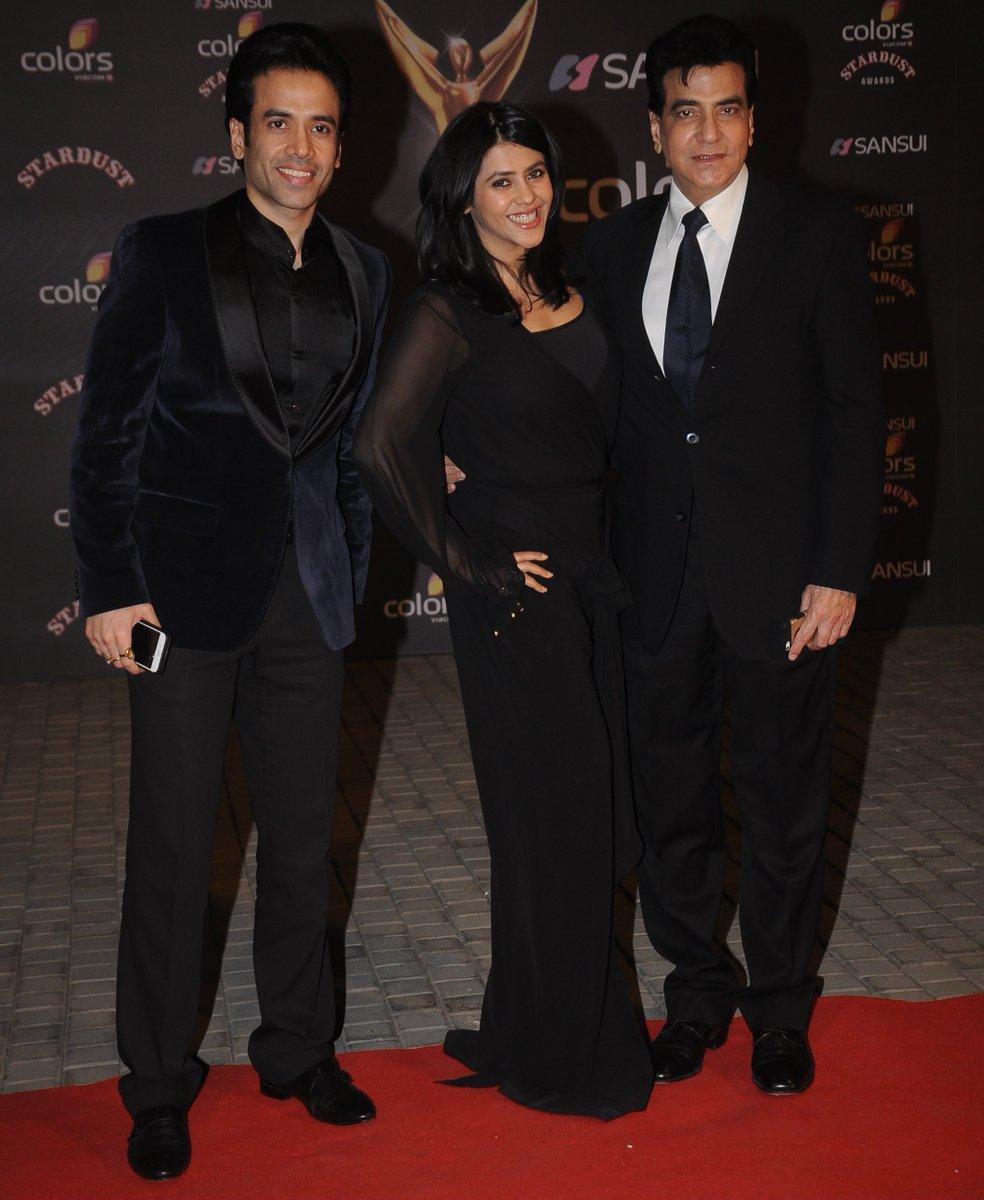 Tusshar Kapoor, Ekta Kapoor and Jitendra at Stardust Awards 2016 Image/Pciture