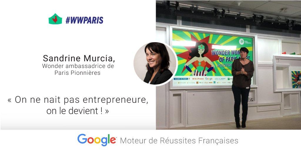 Sandrine Murcia, Ambassadrice de @ParisPionnieres, résume l'esprit des Pionnières #WWParis cc @mumuparis https://t.co/HpIAJsykVz