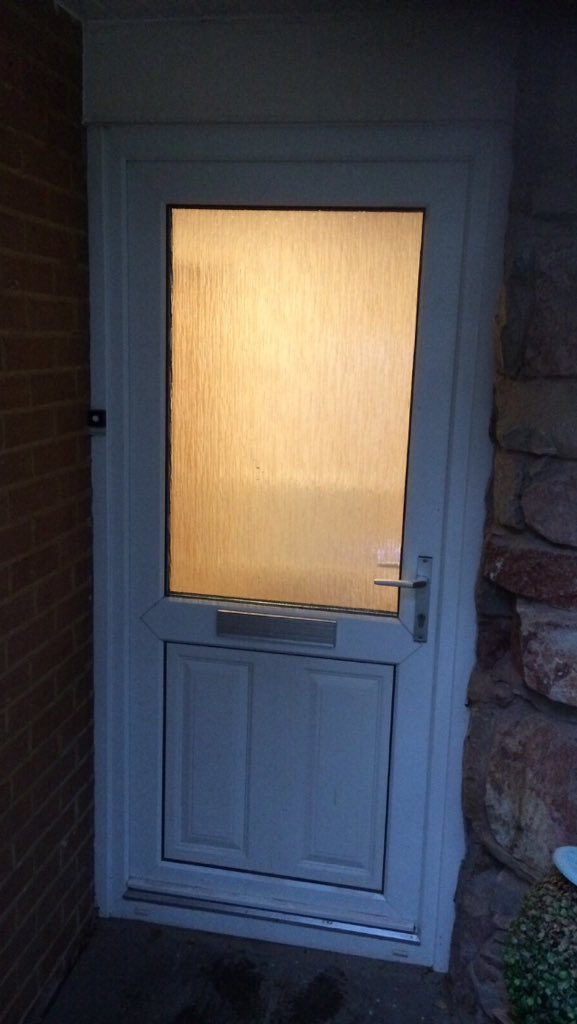 THE DOOR COMPANY on Twitter \ Simply doors before \u0026 after photos of the Solidor Conway in anthracite grey with abstract glass! & THE DOOR COMPANY on Twitter: \
