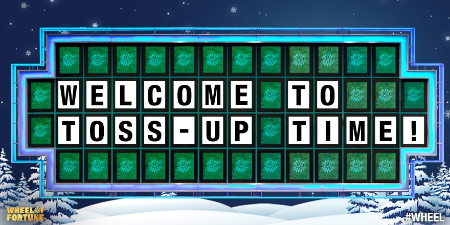 Same Letter Wheel Of Fortune.Wheel Of Fortune On Twitter Time For A Christmaseve Toss Up