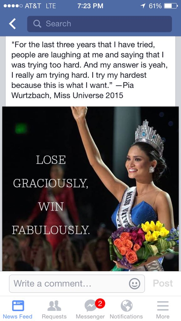 Finally, something positive to come out of the #MissUniverse2015 debacle #SteveHarvey #BeautyIsOnlySkinDeep https://t.co/oOE5ELhHWo