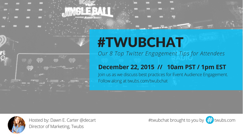 10a PST today   MT @decart: Join me for our last #twubchat of 2015 https://t.co/BBXwufDbqP  https://t.co/wsihkNhoZq