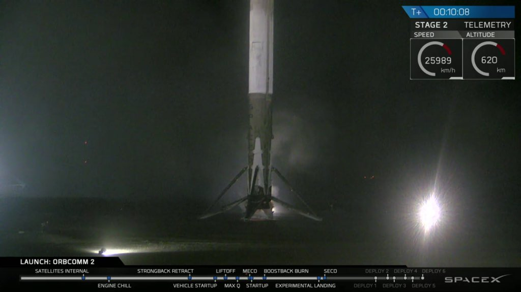 Falcon9 di SpaceX atterra con successo a Cape Canaveral (VIDEO YOUTUBE)