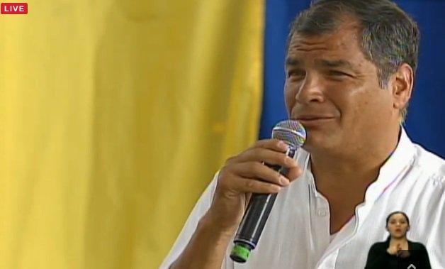 Presidente @MashiRafael inicia su intervención en la inauguración del anillo vial #ObrasParaLosRíos https://t.co/p7gHB1iLug
