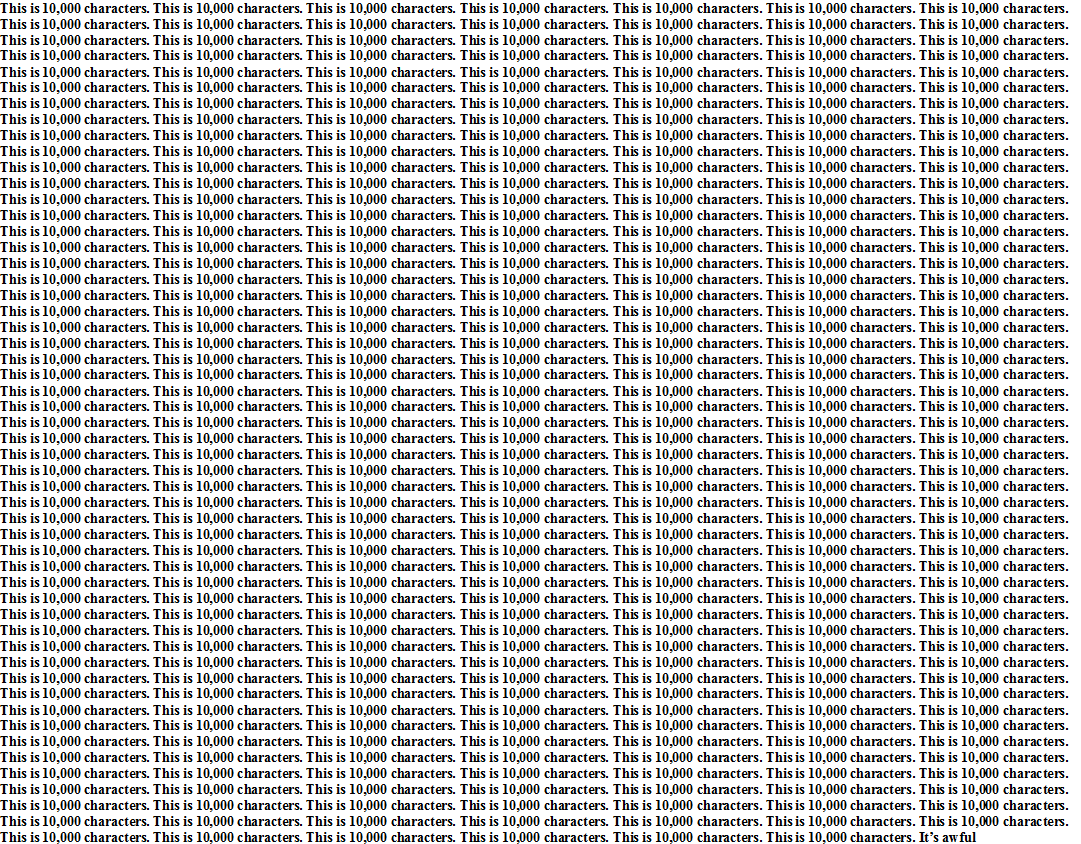Just wanted to show you how long 10,000 characters is. $TWTR https://t.co/XPeeKFQJOe