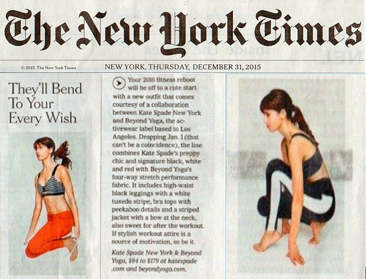 Your New Year's #resolutions just became super cute with the @BeyondYoga x @katespadeny collab featured on @nytimes! https://t.co/sYSqVVrYb1