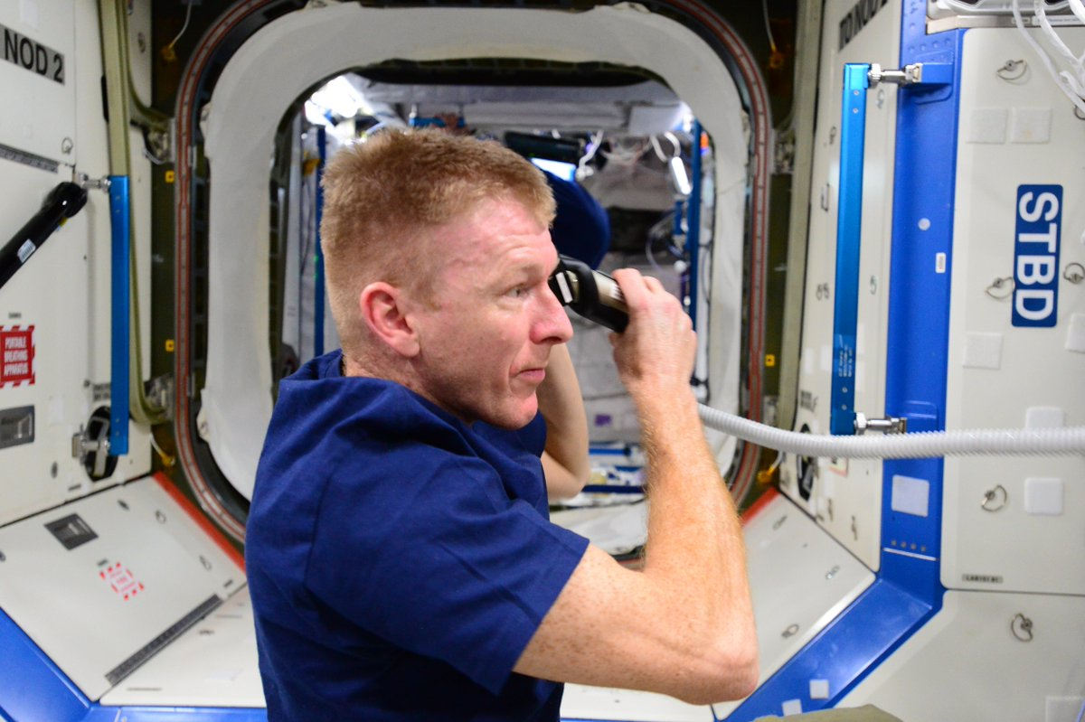 Its A Cut Above Major Tim Peake Gets A Haircut In Space