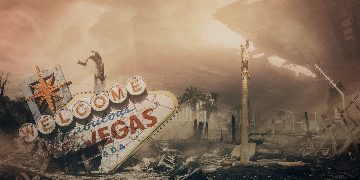 Image result for las vegas in ruins