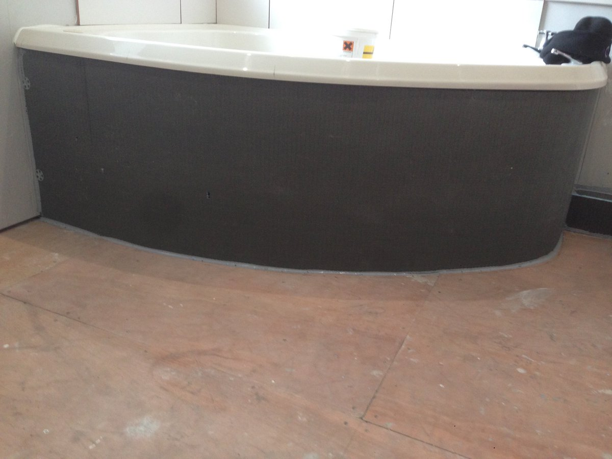 Dave stott on twitter customer wanted a tiled bath panel wedi dave stott on twitter customer wanted a tiled bath panel wedi building board at 20mm tiled with bal adhesives and grout httpstmybc53le9n dailygadgetfo Images