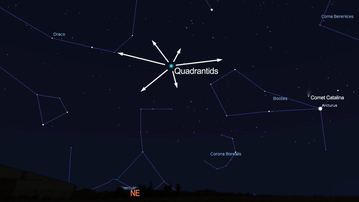 Stelle cadenti: pioggia meteore Quadrantidi 2016 oggi in diretta streaming con Slooh