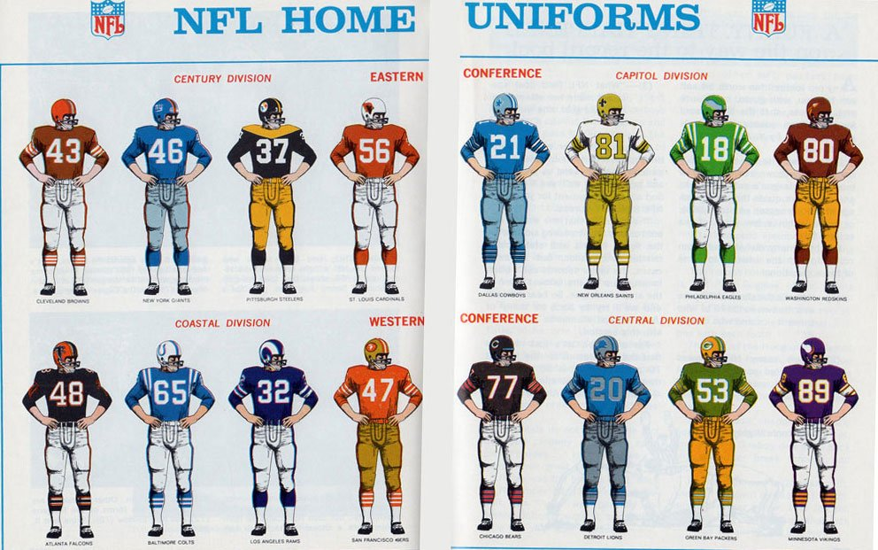 todd radom on twitter nfl uniforms 1967