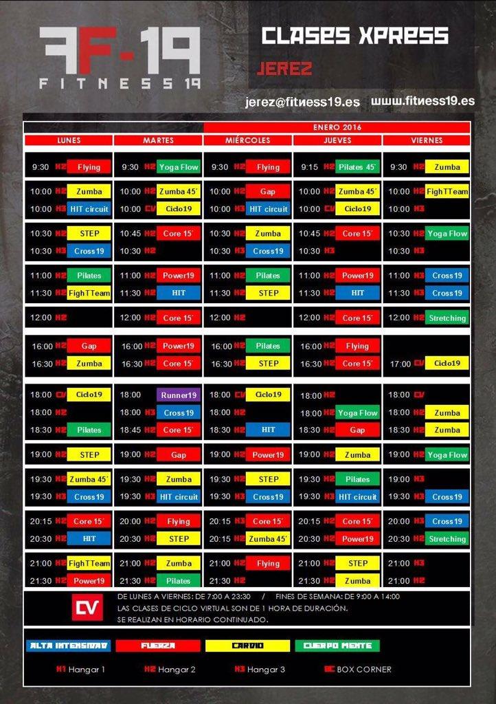 Mañana comenzamos con el horario de actividades dirigidas de Enero #aporenero #gym @fitness19jerez<br>http://pic.twitter.com/Kz55kaToni
