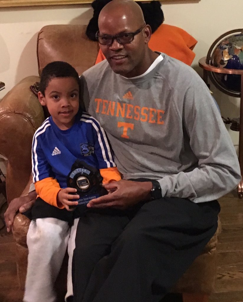 """Dale Ellis on Twitter """"Chilling with my son"""