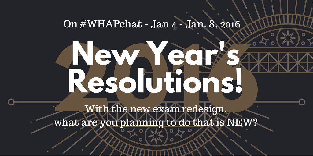 Thumbnail for #WHAPchat: New Resolutions