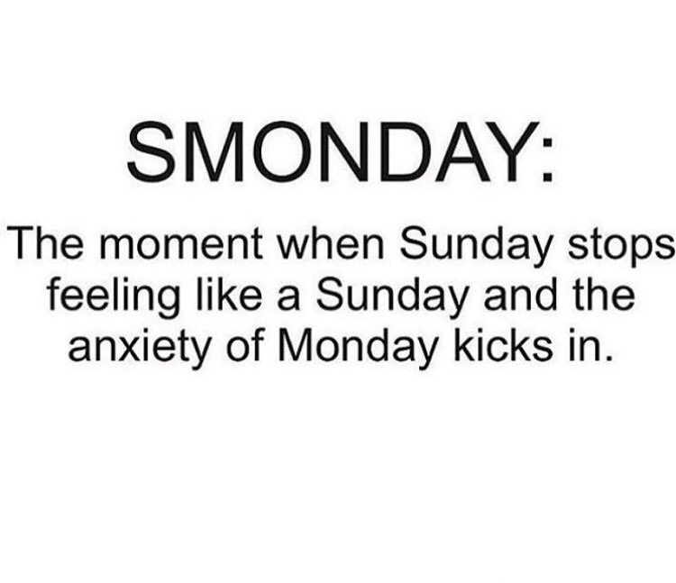 Retweet if you're in Sunday Scaries overload! https://t.co/USJNKnE22D