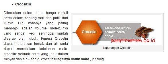 Kandungan Crocetin
