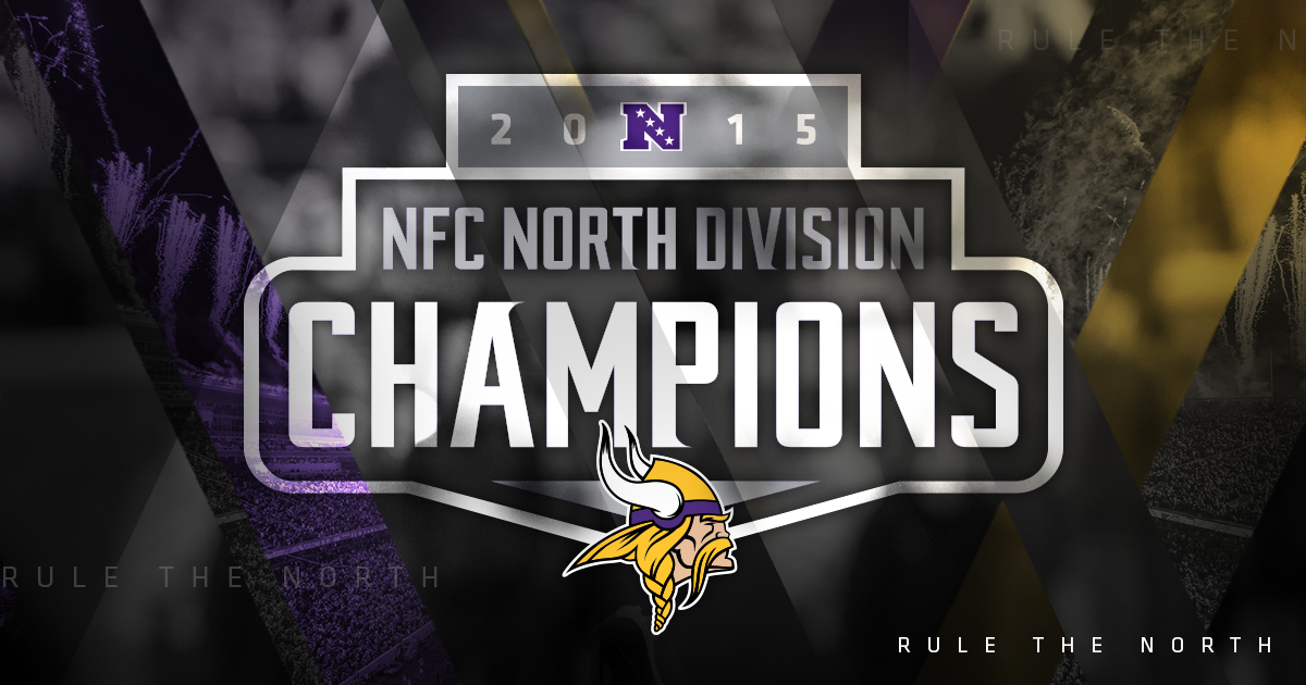 This season the #Vikings RULE THE NORTH! #NFCNorthChamps
