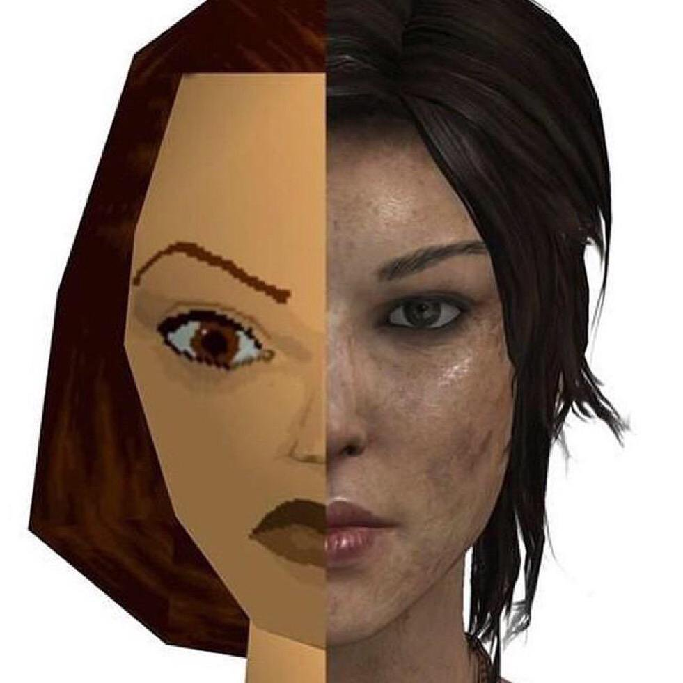 Moore's Law in a single face. 19 years of Lara Croft v @HistoryFlick https://t.co/8h70PERt1k