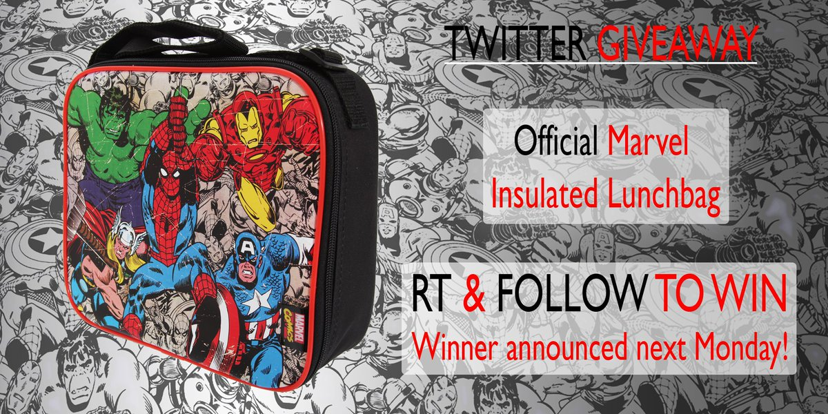 Scott Jagon 2016-01-04 RT  armw501  Pauls Angel1979  RT unitextiles    Marvel official lunch bag  giveaway!  Follow  amp  RT to  win! Closes 11th  Jan! 1702113097f49