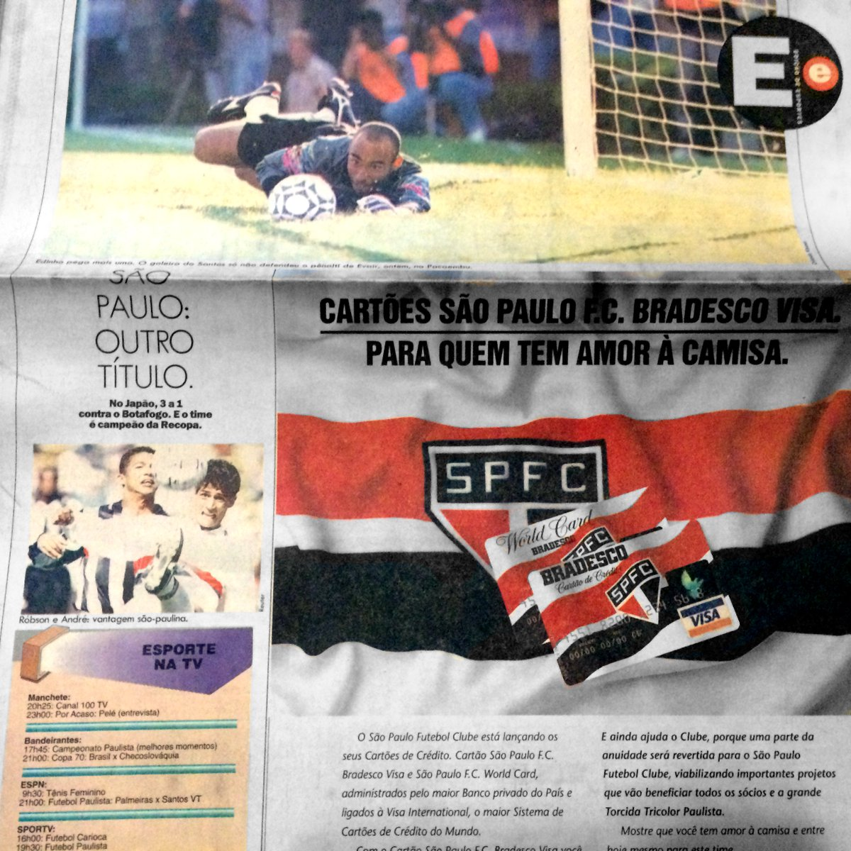 6e7a75ddc1 São Paulo campeão da Recopa Sul-Americana de 1994 nas páginas do JT.   JT50anospic.twitter.com mYE8ccZPoM