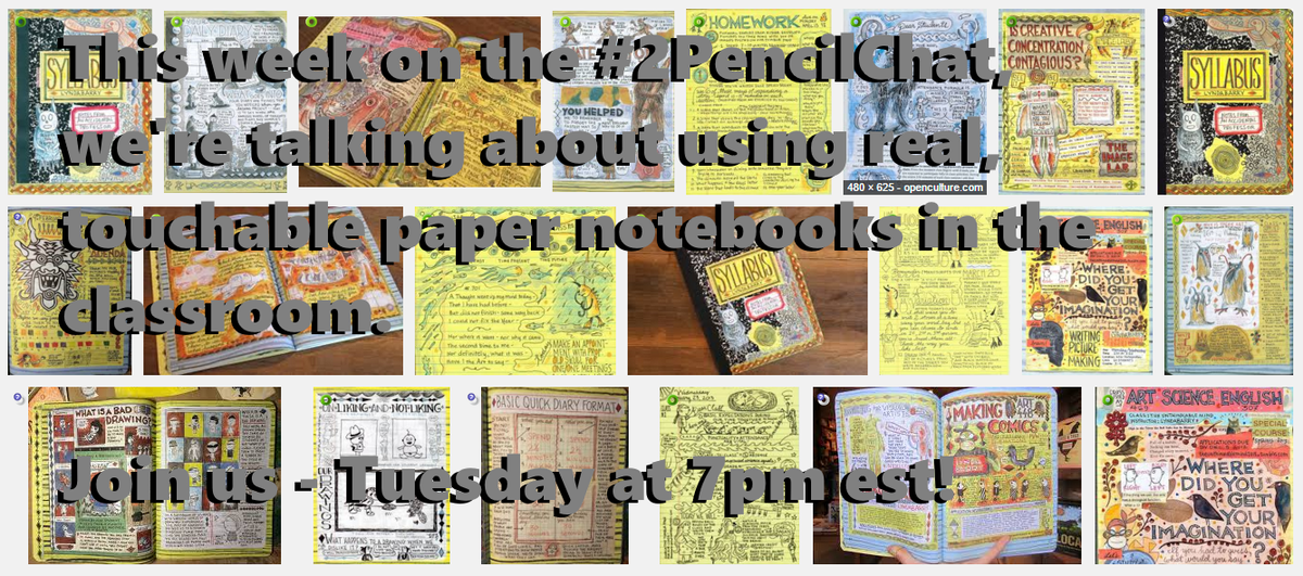 Let's talk about writing in notebooks! It's the #2PencilChat! Q's here: https://t.co/XEPqcN0sxO   Tues 7pm EST! https://t.co/XHZCnEwqMG