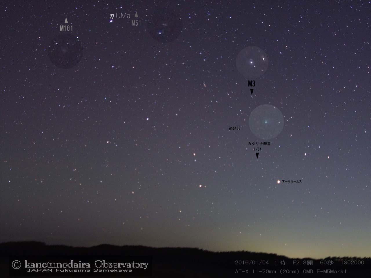 1月のカタリナ彗星