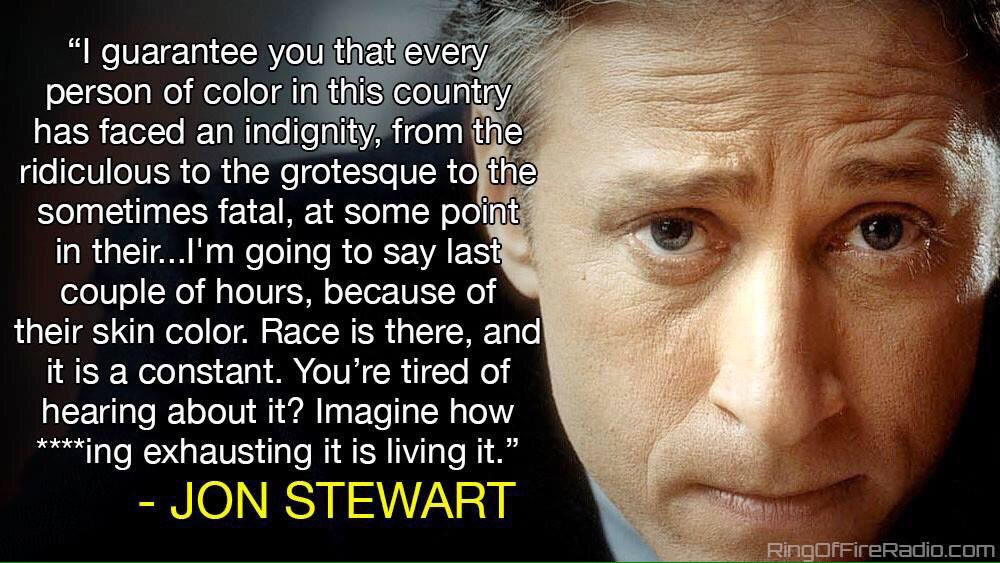 I always admired Jon Stewart, never as much as when he told his own audience this grinding truth. Same applies here. https://t.co/cDlCJVHXDn