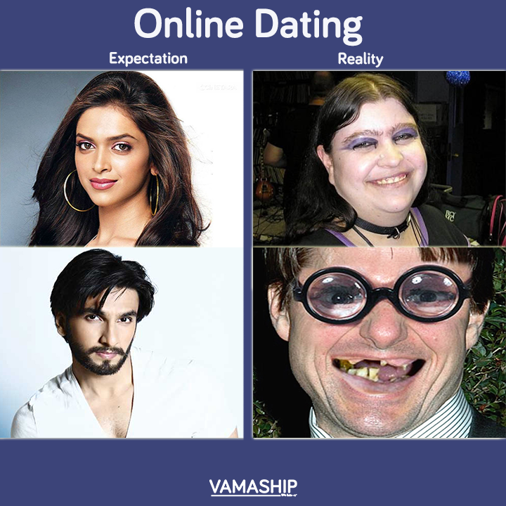 online dating expectations vs reality But is online dating essentially different  to unrealistic expectations and disappointment when  sites is guided by rigorous psychological science,.
