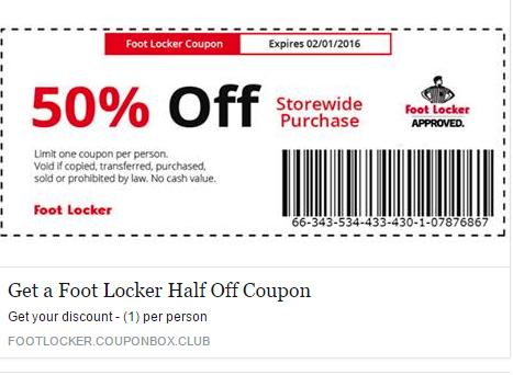 image about Foot Locker Printable Coupon called Foot Locker upon Twitter: \