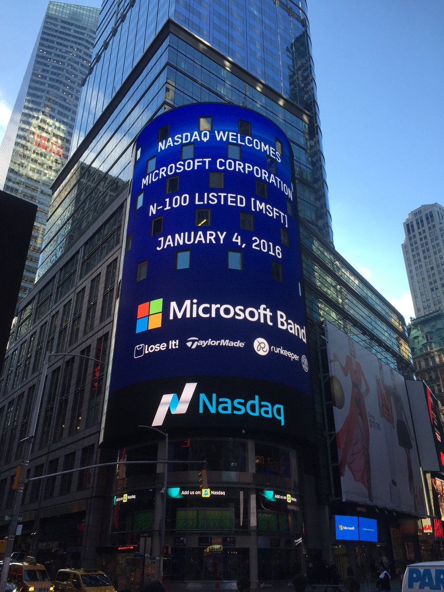 Happy new year to us! Look who's featured in Times Square today! @microsoftband @Runkeeper @TaylorMadeGolf
