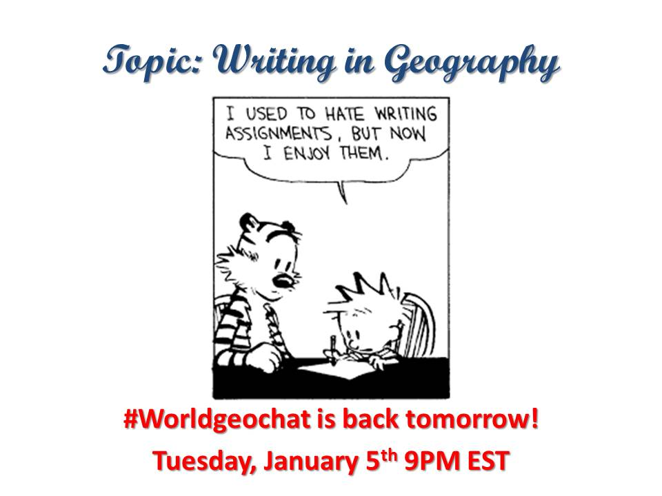 Thumbnail for #worldgeochat - Writing in Geography
