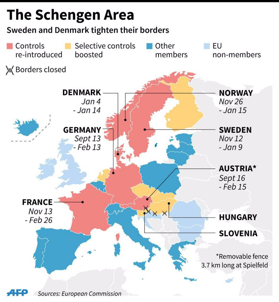 The European Post On Twitter Schengen Area Updated After Sweden