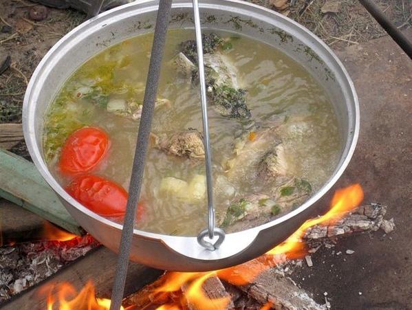 приготовление сало на рыбалку