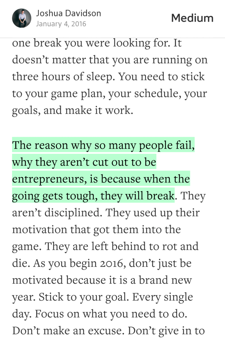 """The reason why so many people fail, why they aren't cut out to be…"" — @dasjoshua https://t.co/MMARplCsJY https://t.co/d53fjXRedZ"