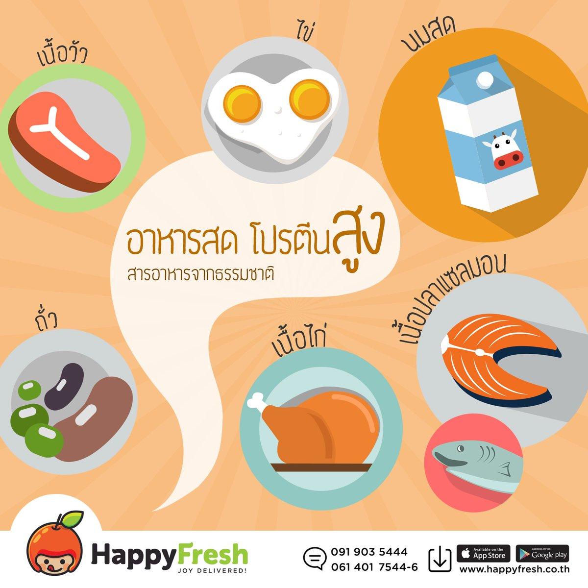 วันนี้ #HappyFresh มีเมนูอาหารที่โปรตีนสูงและหาซื้อง่ายมาฝากค่า #Whey #Cleanfood #Healthy #โปรตีน #อาหารคลีน https://t.co/Qu9zA7IbKp