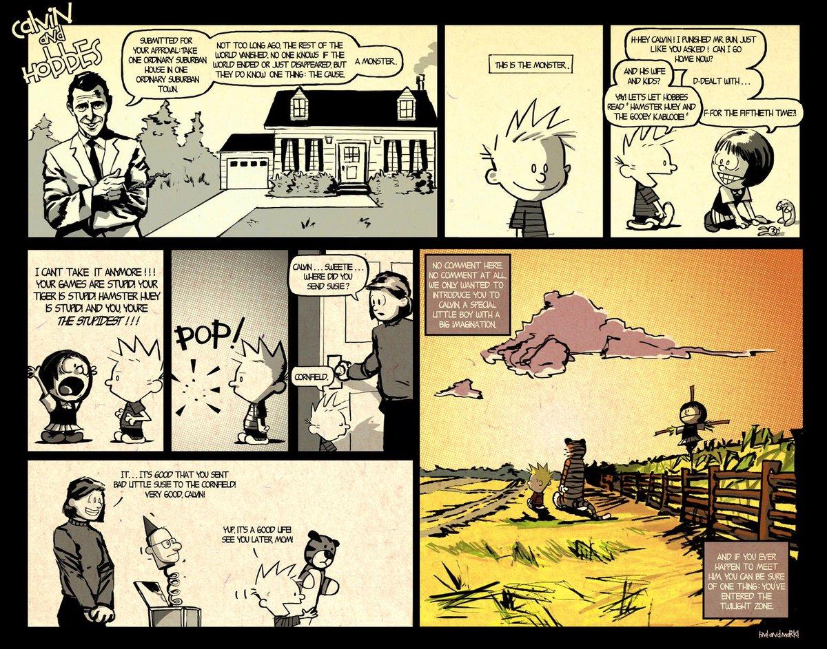 "Hahaha! #CalvinandHobbes ""It's a Good Life"" #TwilightZone #comics @TheNightGallery https://t.co/dIf0BRSG4D"