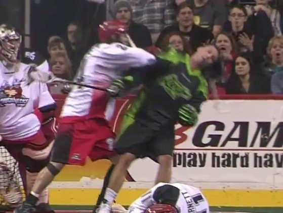 Video: lacrosse player gets mask punched off his face, immediately