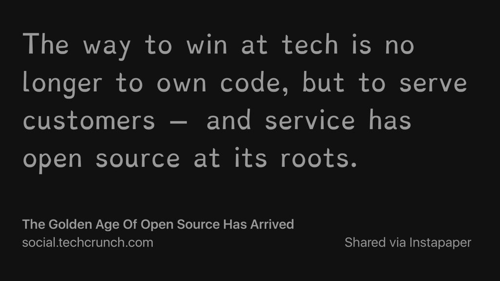 The Golden Age Of Open Source Has Arrived https://t.co/womKtzBxYZ https://t.co/AsBXt2rmaL