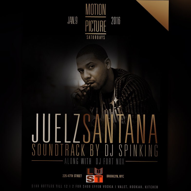 1/9 Saturday : @thejuelzsantana returns to @LUSTNY_ https://t.co/p3Ia1J0TVE