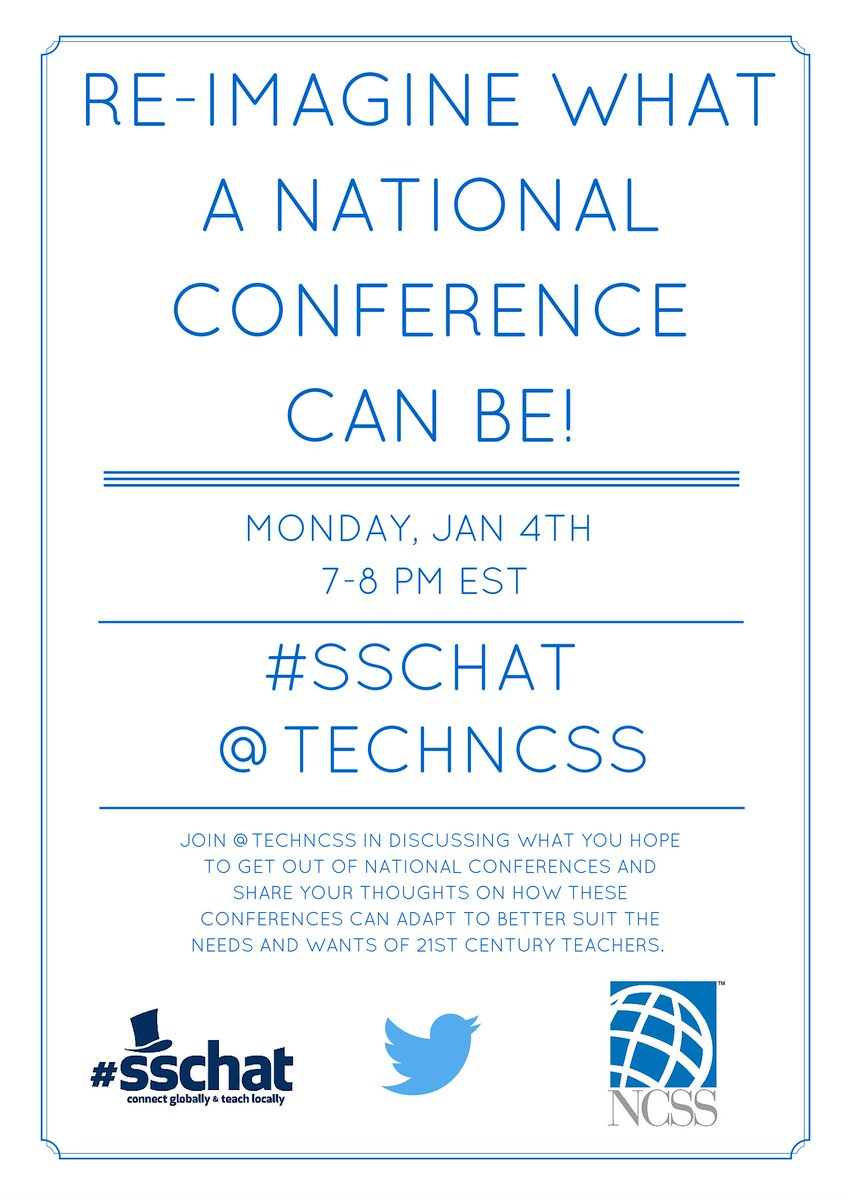 Starting in just a few minutes! #sschat @NCSSNetwork https://t.co/9lClM1ddpx
